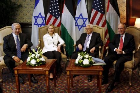 Netanyahu, Clinton, Abu Mazen, Mitchell. | EFE