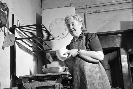 Agatha Christie, en 1950. | Getty