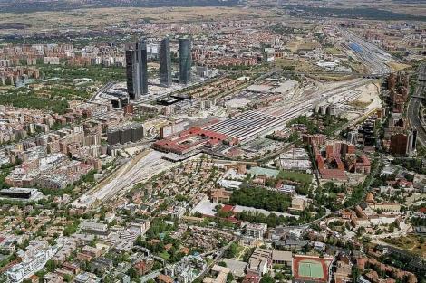 Imagen de los terrenos donde se ubicará la futura prolongación de la Castellana.   ELMUNDO.es