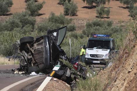 Imagen de un acidente ocurrido hace una semana cerca de Badajoz | Efe