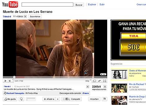 Una escena del final de la serie de Telecinco de 'Los Serrano', en YouTube.