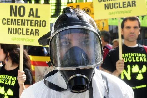 Una manifestación contra el ATC en Madrid. | Bernardo Díaz