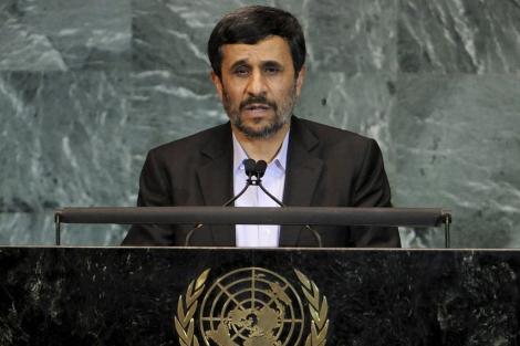 Mahmud Ahmadineyad durante su intervención en la Asamblea General de la ONU. | Efe