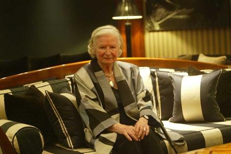 La escritora P. D. James, el pasado año en Barcelona.   Quique García