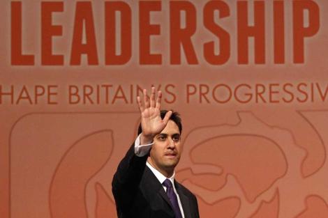 Ed Miliband, nada más ser elegido líder del partido laborista.  Reuters