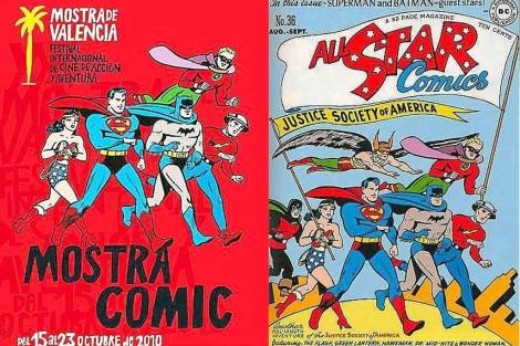 A la izquierda, el cartel de la controversia. A la derecha, la portada publicada en 1947.