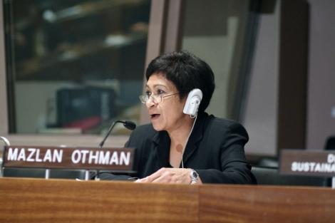 M.Othman, directora de la oficina de la ONU para el Espacio Exterior.