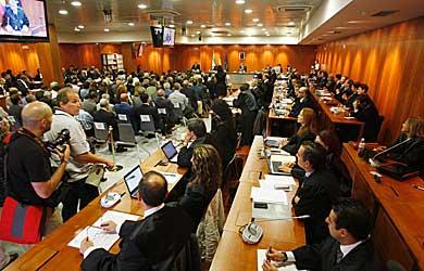 Imagen de la Sala, antes de iniciarse el juicio. | Antonio Pastor