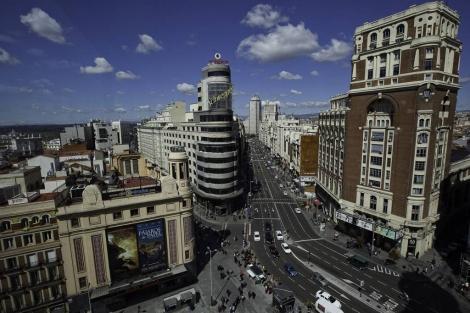 La Gran Vía madrileña celebra este año sus 100 años de vida. | Gonzalo Arroyo
