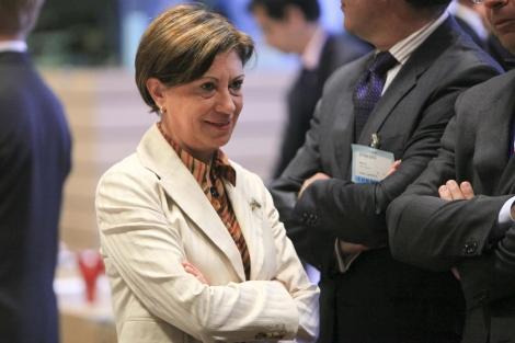 Elena Espinosa en la reunión del Consejo de Ministros de Agricultura y Pesca de la UE. | Efe