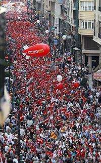 Manifestantes por Valencia. | J.C