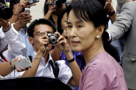 La Nobel de la Paz, Aung San Suu Kyi. | AP