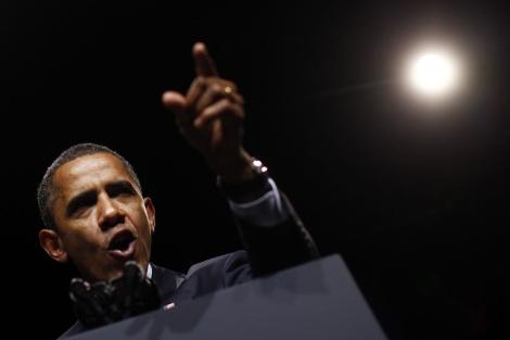 El presidente de EEUU, Barack Obama, durante un discurso en Washington. | Reuters