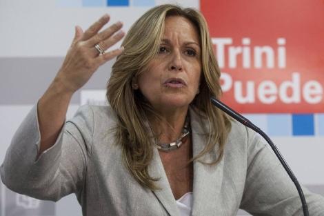 Trinidad Jiménez, en un acto en Alcorcón (Madrid).   El Mundo
