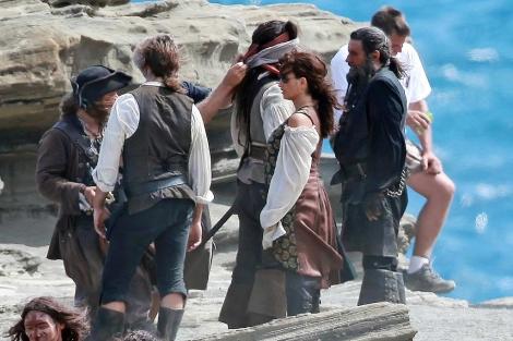 La actriz, en una de sus últimas apariciones en el rodaje de 'Piratas del Caribe'.