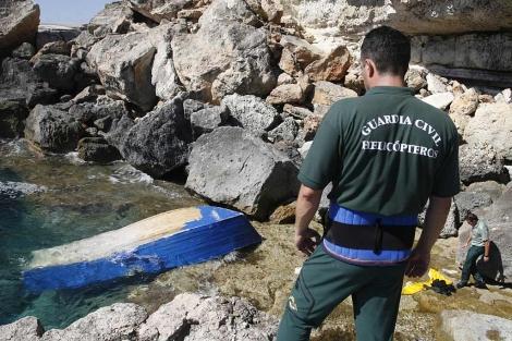 Pro primera vez en 2010, también ha llegado una patera a Mallorca.| Jordi Avellà