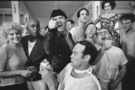 Jack Nickolson durante el rodaje de 'Alguien voló sobre el nido del cuco' | E.M.