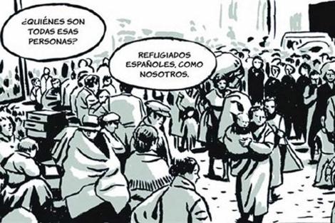 Una de las viñetas del nuevo cómic de Paco Roca.