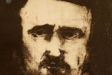 Edgar Allan Poe, en una litografía.  Vea más fotos