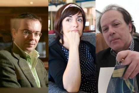 Javier Sierra, Elvira Lindo y Javier Marías. | J. Martínez / J. Ferrer / C. Maury