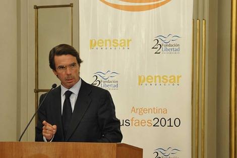 El ex presidente del Gobierno, José María Aznar. | Foto: FAES.