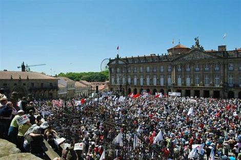 Manifestación en defensa del gallego, en 2009. | A Mesa (EP)