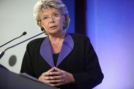 La vicepresidenta de la Comisión, Viviane Reding.   Afp