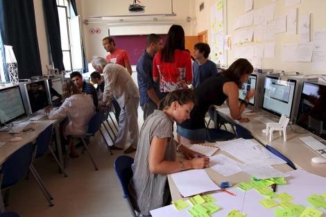 Un grupo de estudiantes durante una clase.   ELMUNDO.es