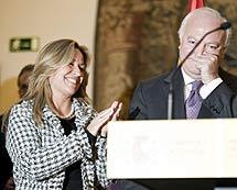 Moratinos, emocionado al dejar su cartera de Exteriores. | Efe