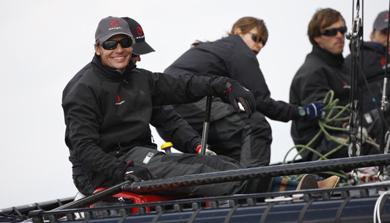 Ernesto Bertarelli, a bordo de un D35. | Carlo Borlenghi | Alinghi