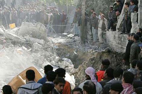 Las consecuencias del ataque que mató a los 21 miembros de la familia Samoni. | Afp