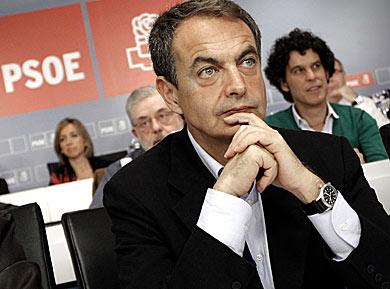Zapatero, ayer en el Comité Federal. | Alberto Di Lolli