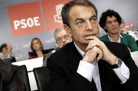 José Luis Rodríguez Zapatero, el sábado en el Comité Federal, antes de la reunión. | A. Di Lolli