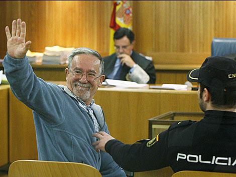 El ex dirigente de los Grapo 'camarada Arenas', en el juicio. | Efe