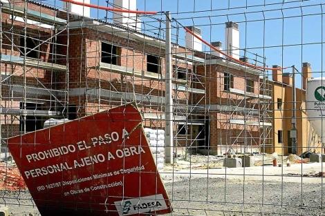 Obras de construcción de una promoción de viviendas de Martinsa-Fadesa. | Kiko Delgado.
