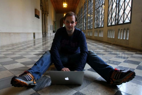 Peter Sunde, en la Universitat de Barcelona. | Christian Maury