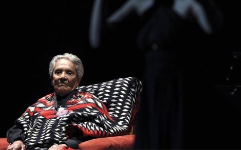 Chavela Vargas, en octubre en un concierto en México. | Efe