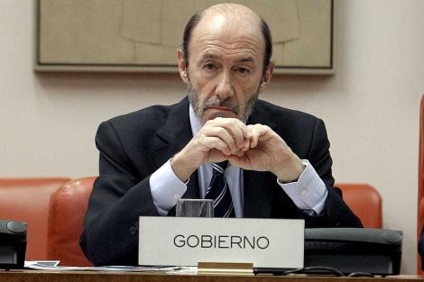 Alfredo Pérez Rubalcaba, en la Comisión de Interior del Congreso. | Efe