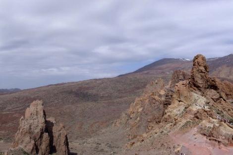 Panorámica del circo de Las Cañadas del Teide