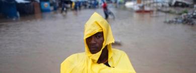 Un haitiano, en un campo de refugiados.| AP