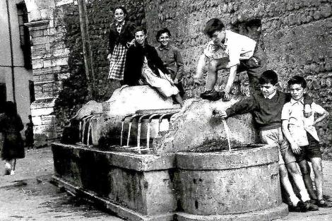 Fuente del Espolón en los años 50.