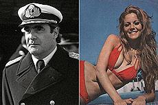 Emilio Massera y la actriz G. Alfano