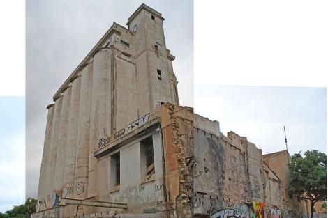 Montaje fotográfico de los silos de San Blas. | Alicante Vivo