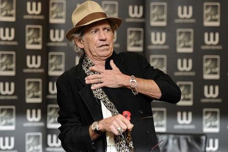 Keith Richards, en un acto promocional.   Reuters