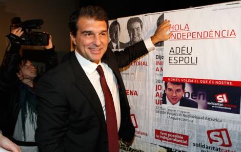 Laporta en el inicio de su campaña.  Antonio Moreno