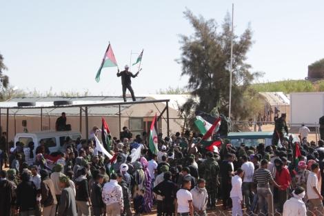 Cientos de jóvenes se manifiestan en Rabuni. | Ariel Ormeño Ramirez