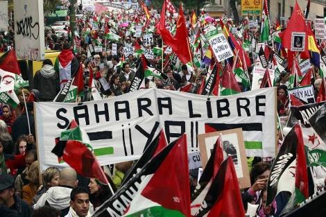 Manifesación por la liberación del Sáhara en Madrid.   Reuters