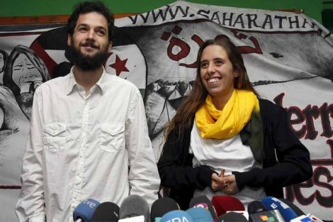 Javier Sopeña y Silvia García durante la rueda de prensa. | Efe