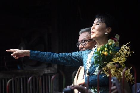 Suu Kyi, en su primer mitin tras su liberación. | Afo