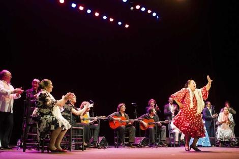Un momento del espectáculo flamenco 'Jerez, la uva y el cante'. | L. C.